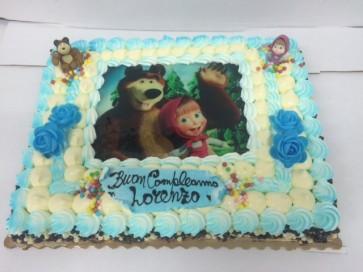 Torta orso e Masha