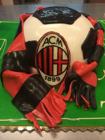 torta palla da calcio tifoso