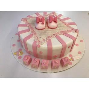 torta battesimo rosa