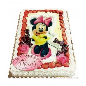torta disegno con fragole e panna